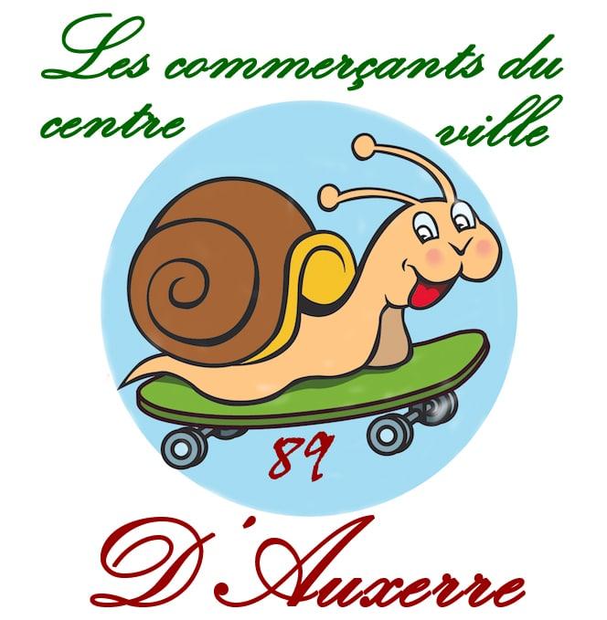 Le logo des commerçants du centre ville d' Auxerre